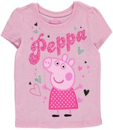 "Peppa Pig Little Girls' Toddler ""Glitter Hearts"" L/S T-Shirt"