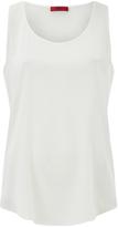 HUGO Women's Cendis Silk Vest Top White