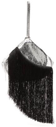 Hillier Bartley Lantern Fringed Leather Clutch - Womens - Black Silver