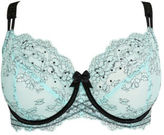 Yours Clothing YoursClothing Plus Size Womens Underwear Mint Non-padded Underwired Bra Lace