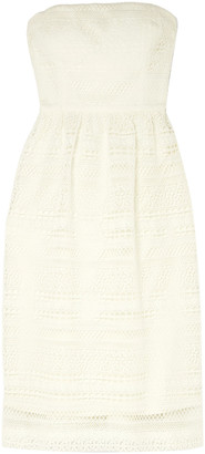 J.Crew Stanbury Strapless Crocheted Lace Midi Dress