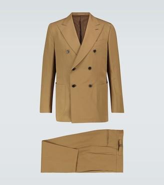 Caruso Cotton and linen-blend suit