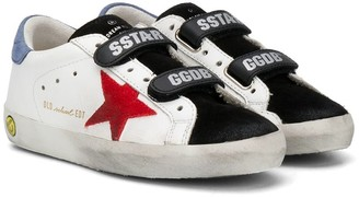 Golden Goose Kids Superstar touch-strap sneakers