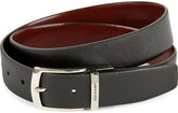 Duchamp Reversible Textured Leather Belt