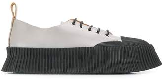 Jil Sander ribbed rubber-detailed sneakers