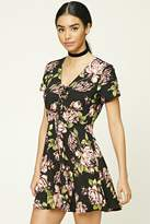 Forever 21 Floral Fit and Flare Dress
