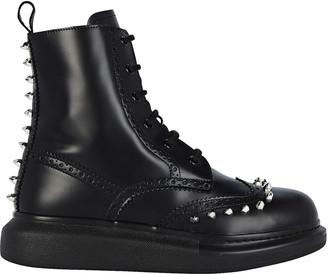 Alexander McQueen Spiked Combat Boots