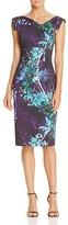 Black Halo Floral-Print Jackie O Dress