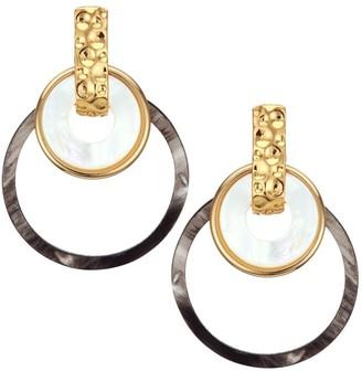 Mother of Pearl Mother-Of-Pearl & Horn Triple-Hoop Earrings
