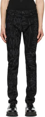 TAKAHIROMIYASHITA TheSoloist. Black Disney Edition Mickey Mouse Words Jeans