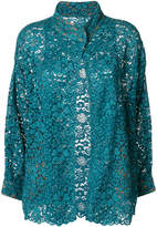 Antonio Marras lace embroidered blazer
