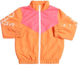 Kenzo Kids Logo Print Nylon Jacket