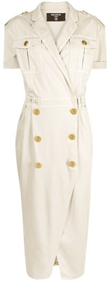 Balmain Button-Detailed Dress