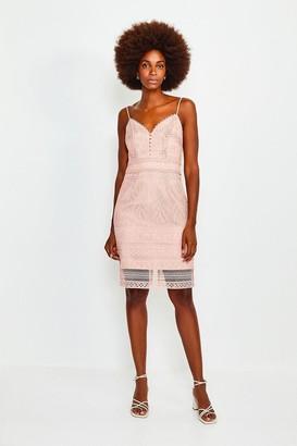 Karen Millen Strappy Chemical Lace Dress