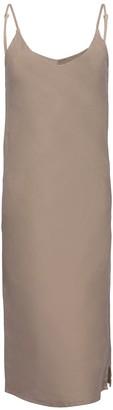 Une Forme SOPHIA Linen Slipdress In Stone