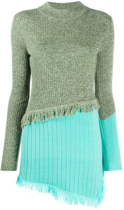 ANDERSSON BELL Asymmetrical Color Blocking Sweater