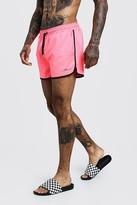 boohoo Mens Pink MAN Signature Runner Swim Short, Pink