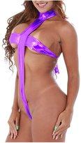 IBTOM CASTLE Women Sexy Lingerie Teddy Mini Bodysuit Halter Bikini Thongs One Piece Swimsuit