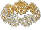 Anne Klein Dandelion Fields Gold Tone Crystal Cluster Stretch Bracelet