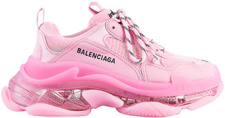 Balenciaga Triple S Clear Sole Sneakers in Pink | FWRD
