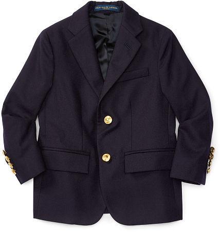Ralph Lauren 2-7 Wool Brass-Button Sport Coat