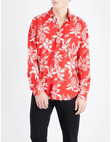 Saint Laurent Pineapple-print Regular-fit Woven Shirt