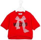 Moschino Kids logo print cropped sweatshirt