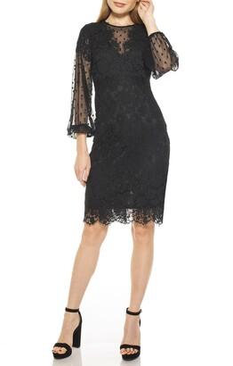 Alexia Admor Bubble Sleeve Lace Dress