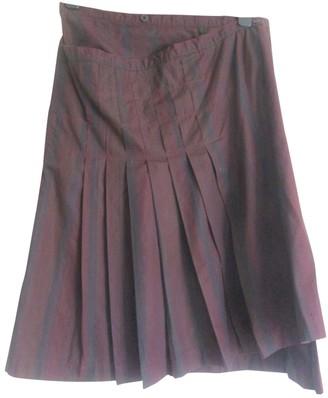 Dries Van Noten Burgundy Cotton Skirts