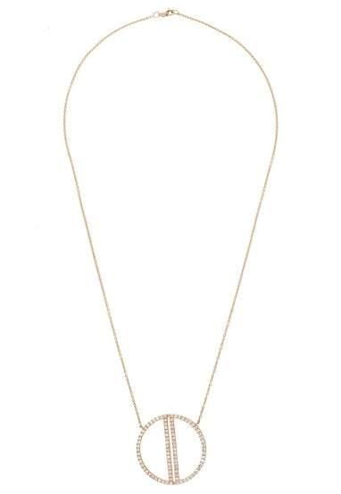 Effy 14K Yellow Gold 0.97ct. Diamond Geo Necklace