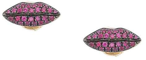 Delfina Delettrez Anatomic Lips stud earring - Pink & Purple