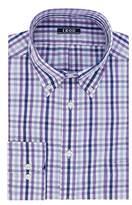 Izod Men's Regular Fit Large Plaid Buttondown Collar Dress Shirt