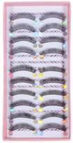 Aftermarket So Beauty 10 Pairs Handmade Meishengjie Makeup Natural Fashion Long Fake False Eyelashes Eye Lashes C-08