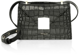 DeMellier Mini Copenhagen Croc-Embossed Leather Crossbody Bag