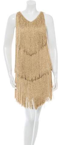 Azzaro Fringed Mini Dress