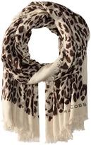Marc Jacobs Leopard Stole Scarves