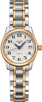 Longines L2.128.5.79.7 Master stainless steel and rose gold-toned watch