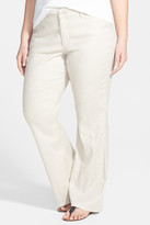 NYDJ Wylie Stretch Linen Blend Trouser (Plus Size)