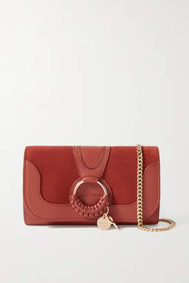 See by Chloe Hana Suede And Textured-leather Shoulder Bag