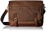 Fossil Men's Defender Waxed Canvas Messenger Bag