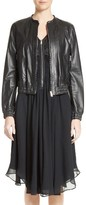 Belstaff Women's Havana Leather Bomber Jacket