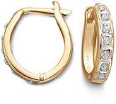 JCPenney FINE JEWELRY 14K Diamond Fascination Hoop Earrings