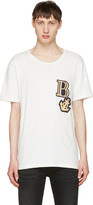Pierre Balmain Off-white Embroidered Logo T-shirt