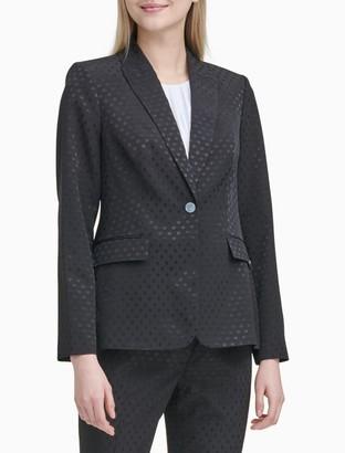 Calvin Klein Shadow Dot 1 Button Jacket