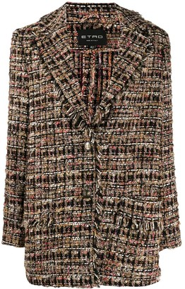 Etro tweed balzer coat