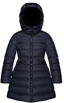 Moncler Girls' Charpal Long Hooded Down Coat - Big Kid