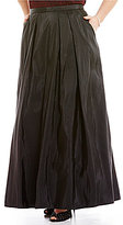 Alex Evenings Plus Long Taffeta Full Skirt