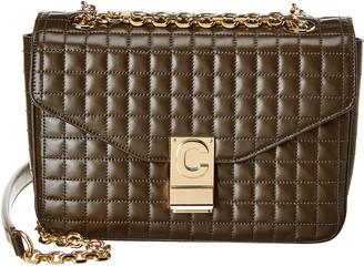 Celine Medium C Quilted Leather Shoulder Bag