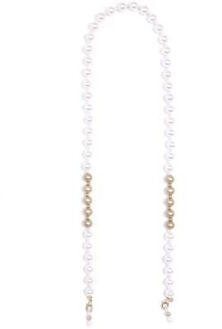 "Zenzii Gold-Tone Bead & Imitation Pearl Eyeglass Holder 27"""