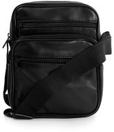 Topman Faux Leather Small Messenger Bag